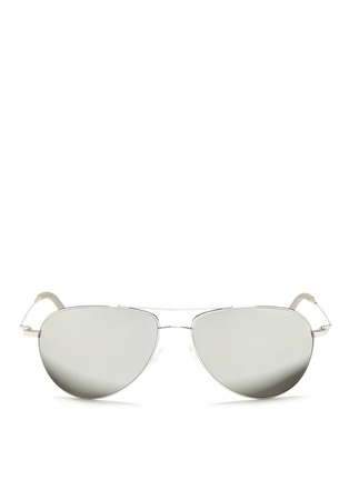 首图 - 点击放大 - OLIVER PEOPLES - 'Benedict' double bridge aviator sunglasses