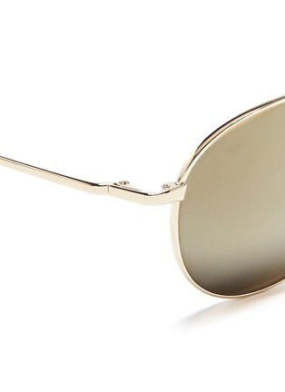 Oliver Peoples - 'Benedict' double bridge aviator sunglasses