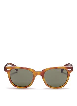 首图 - 点击放大 - OLIVER PEOPLES - 'Masek' matte tortoiseshell acetate sunglasses