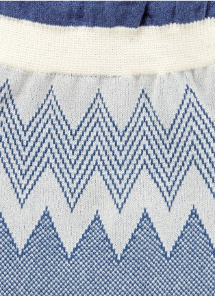 Detail View - Click To Enlarge - HANSEL FROM BASEL - Zigzag stripe nylon crew socks