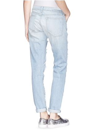 Back View - Click To Enlarge - rag & bone/JEAN - 'The Dre' extreme distressed skinny boyfriend jeans