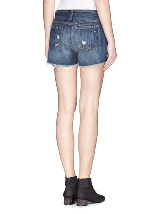 Back View - Click To Enlarge - rag & bone/JEAN - 'Cut Off' denim shorts