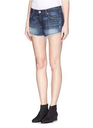 Front View - Click To Enlarge - rag & bone/JEAN - 'Cut Off' denim shorts