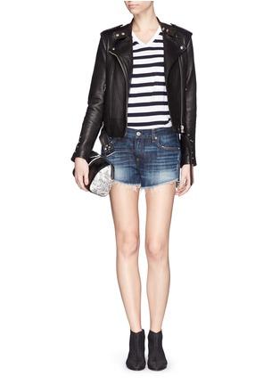 Figure View - Click To Enlarge - rag & bone/JEAN - 'Cut Off' denim shorts