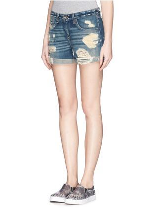Front View - Click To Enlarge - rag & bone/JEAN - 'Boyfriend' distressed denim shorts
