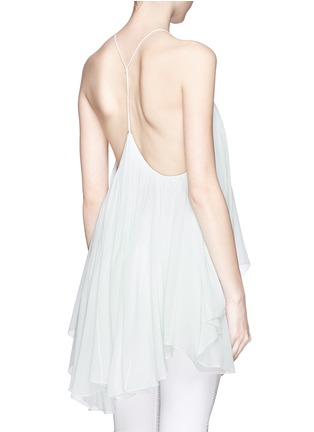 Back View - Click To Enlarge - Chloé - Drop collar silk crepon top