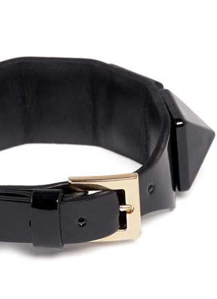 Detail View - Click To Enlarge - Valentino - 'Rockstud' macro patent leather bracelet
