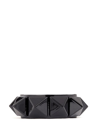 Main View - Click To Enlarge - Valentino - 'Rockstud' macro patent leather bracelet