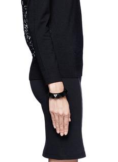 VALENTINO'Rockstud' macro patent leather bracelet