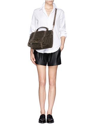 - Proenza Schouler - 'PS1' medium suede satchel