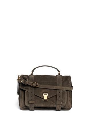 Main View - Click To Enlarge - Proenza Schouler - 'PS1' medium suede satchel