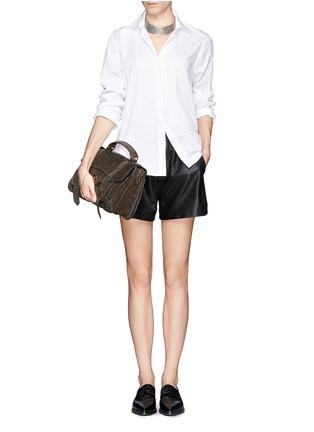 Figure View - Click To Enlarge - Proenza Schouler - 'PS1' medium suede satchel