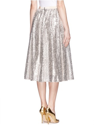 Back View - Click To Enlarge - alice + olivia - 'Justina' nude sequin flare skirt