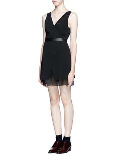 ALICE + OLIVIA'Brice' layer combo dress