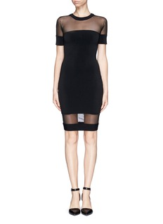 ELIZABETH AND JAMES 'Kate' mesh insert body-con dress