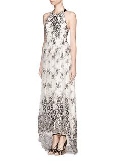 ALICE + OLIVIA'Isla' T-back lace maxi dress