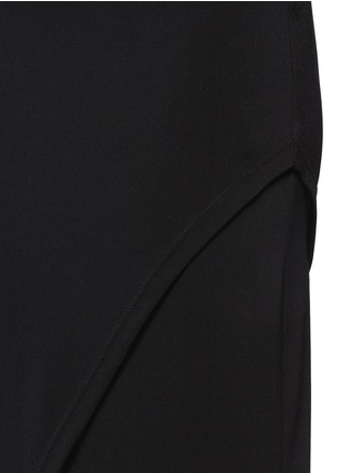 Detail View - Click To Enlarge - alice + olivia - Wrap front maxi skirt