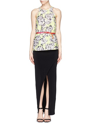 Figure View - Click To Enlarge - alice + olivia - Wrap front maxi skirt
