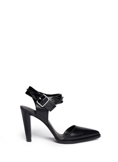 ALEXANDER WANG  'Jane' inverted leather ankle strap pumps