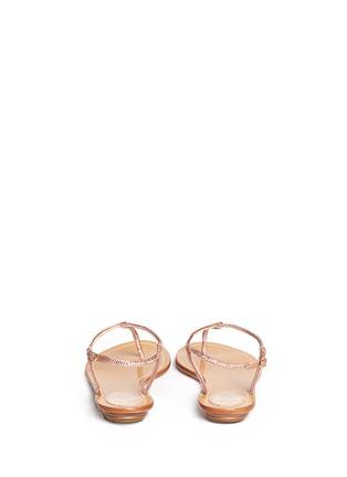 René Caovilla-Crystal T-strap flat sandals