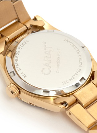 Detail View - Click To Enlarge - CARAT* - Chelsea gold-tone (white) watch