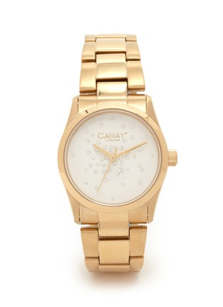 Main View - Click To Enlarge - CARAT* - Chelsea gold-tone (white) watch