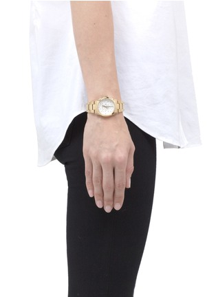 Figure View - Click To Enlarge - CARAT* - Chelsea gold-tone (white) watch