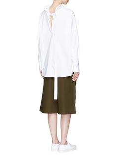 FFIXXED STUDIOSSnap button back cotton poplin shirt