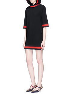 Gucci Web trim jersey hoodie dress