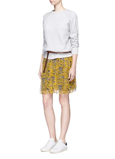 Isabel Marant Étoile'Billy' raglan sleeve fleece lined sweatshirt