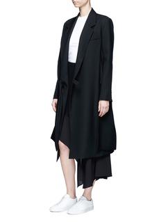 Acne Studios'Pamsan' drape front asymmetric silk skirt