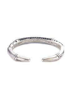 John Hardy Sapphire silver bamboo cuff