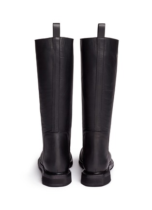 Back View - Click To Enlarge - Rick Owens - Leather biker boots