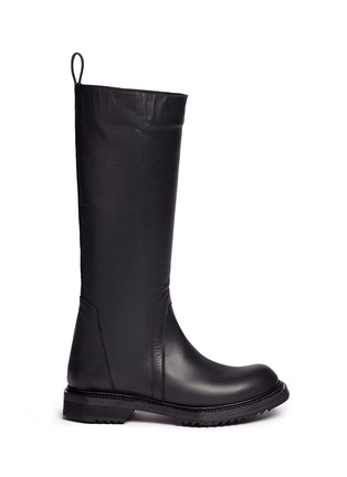 Main View - Click To Enlarge - Rick Owens - Leather biker boots