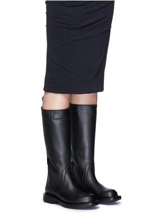 Rick Owens-Leather biker boots