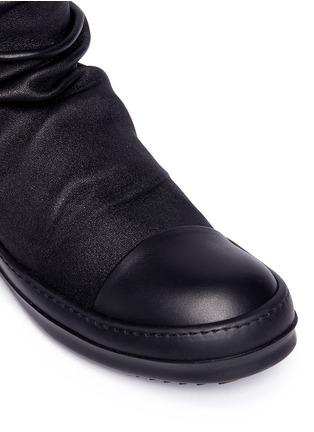 Detail View - Click To Enlarge - Rick Owens - Lambskin leather high sock sneakers