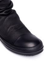 Lambskin leather high sock sneakers