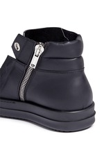 Island Dunk' leather laceless sneakers
