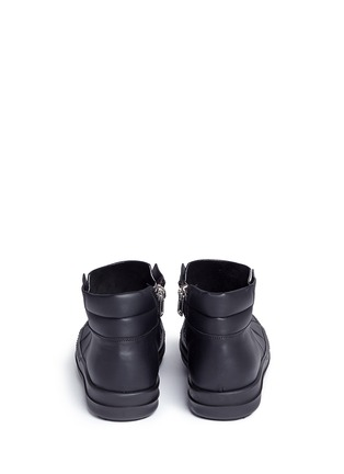 Back View - Click To Enlarge - Rick Owens - Island Dunk' leather laceless sneakers