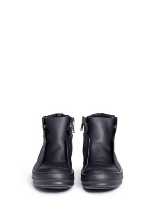 Front View - Click To Enlarge - Rick Owens - Island Dunk' leather laceless sneakers