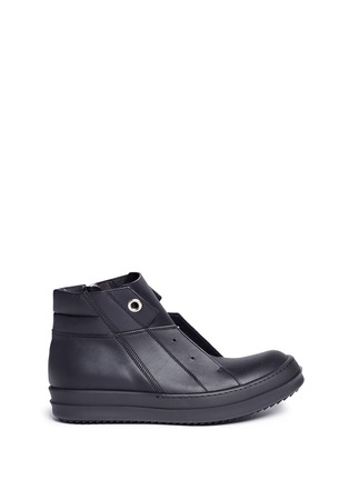 Main View - Click To Enlarge - Rick Owens - Island Dunk' leather laceless sneakers