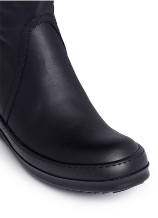 Detail View - Click To Enlarge - Rick Owens - Zip leather sneaker boots