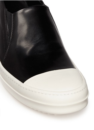Rick Owens - Leather boat skate slip-ons