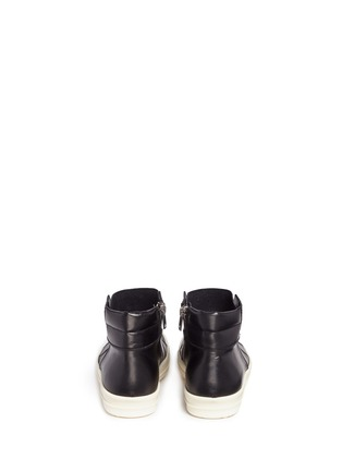 Back View - Click To Enlarge - Rick Owens - 'Island Dunk' leather laceless mid top sneakers