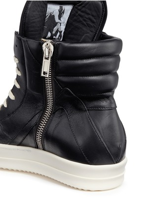Detail View - Click To Enlarge - Rick Owens - 'Geobasket' high top leather sneakers