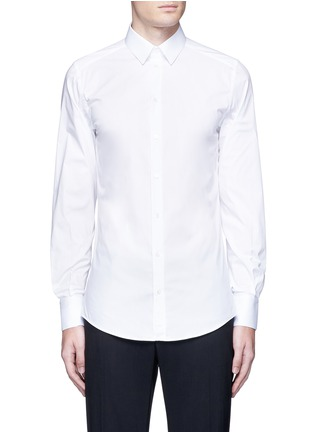 Main View - Click To Enlarge - Dolce & Gabbana - 'Gold' slim fit cotton shirt