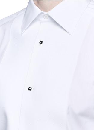 细节 - 点击放大 - DOLCE & GABBANA - 修身棉混丝礼服衬衫