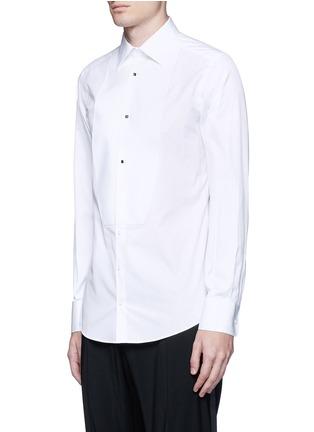 正面 -点击放大 - DOLCE & GABBANA - 修身棉混丝礼服衬衫