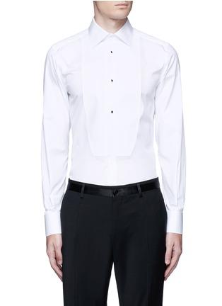 Main View - Click To Enlarge - Dolce & Gabbana - 'Gold' piqué bib tuxedo shirt