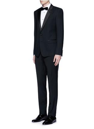 Figure View - Click To Enlarge - Dolce & Gabbana - 'Gold' piqué bib tuxedo shirt